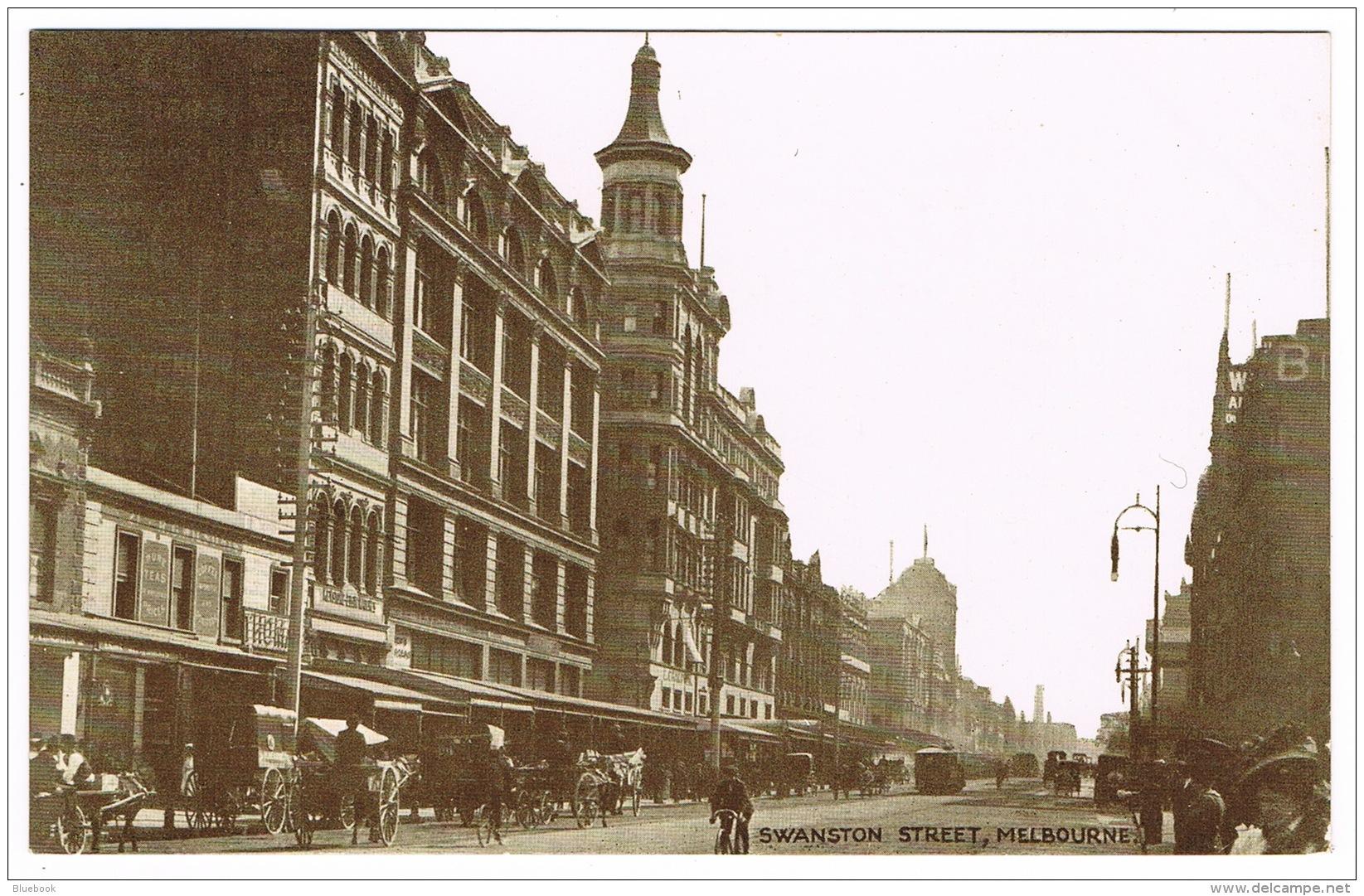 RB 1139 - Early Postcard - Swanston Street Melbourne - Victoria Australia - Melbourne