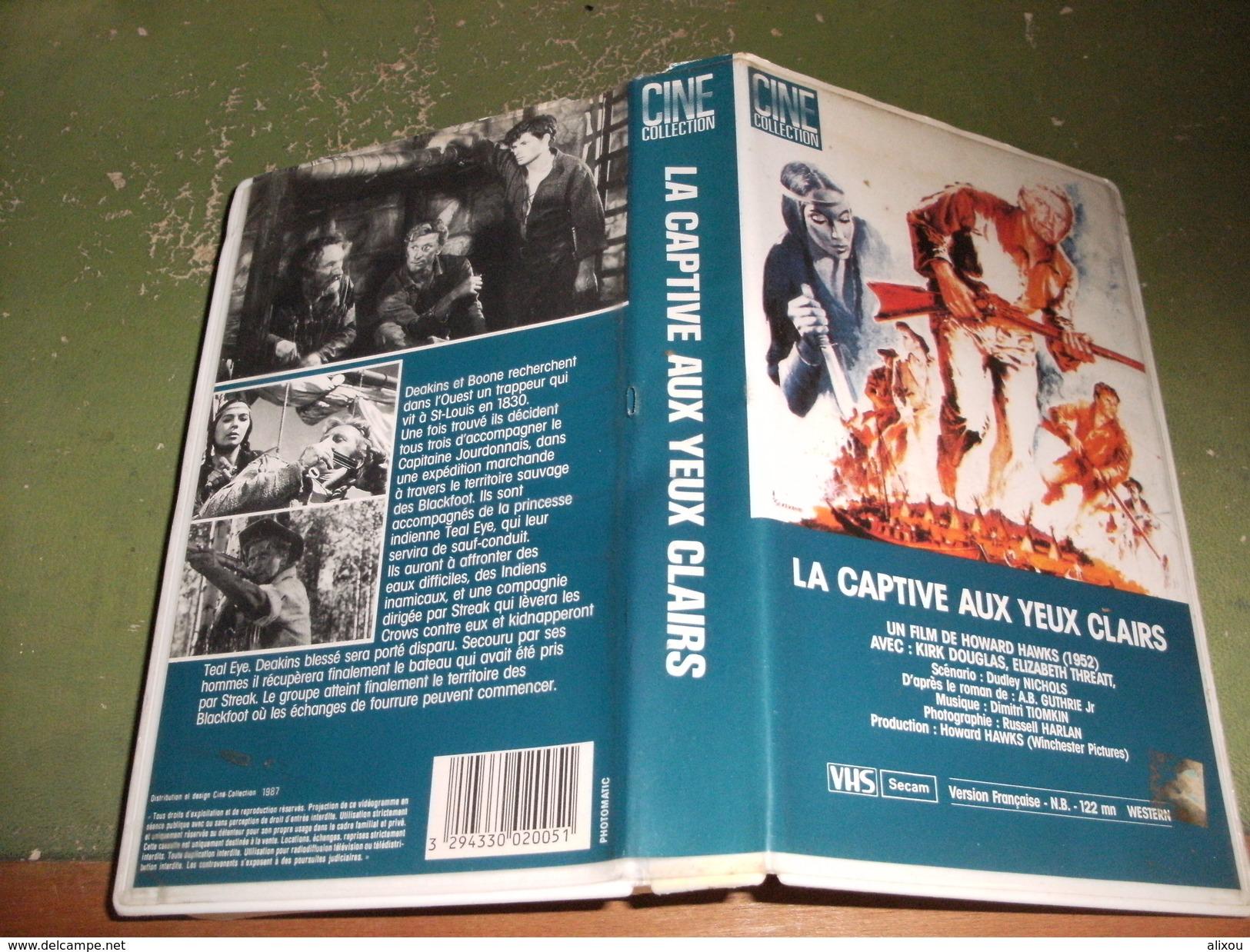 """Rare Film : """" La Captive Aux Yeux Clairs """" - Western/ Cowboy"""