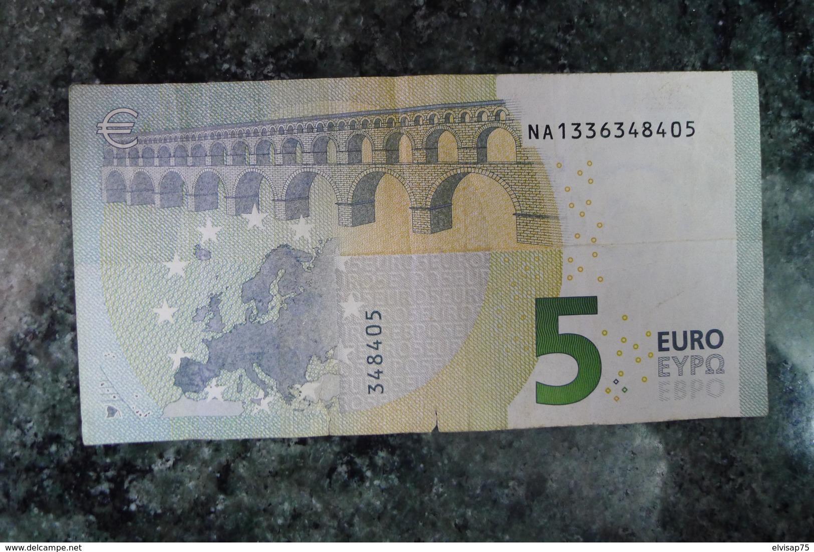 RRR - EXTREMELY RARE - 5 EURO AUSTRIA N016C1 Draghi - EURO