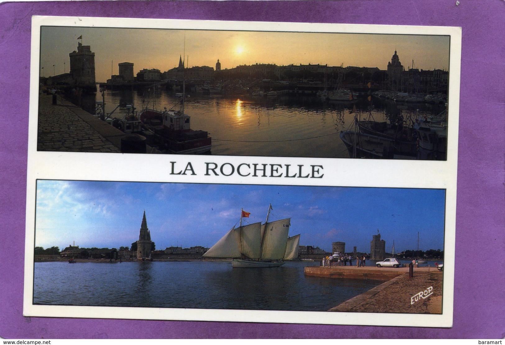 17 LA ROCHELLE Couchant Sur Le Vieux Port  - Vieux Gréement Sur Le Chenal - Flamme Au Dos De St Georges D'Oléron - La Rochelle