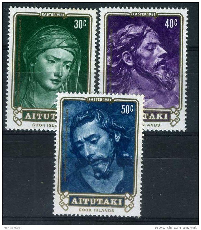 AITUTAKI ( POSTE ) : Y&T  N°  274/276   TIMBRES  NEUFS  SANS  TRACE  DE  CHARNIERE , A  VOIR . - Aitutaki