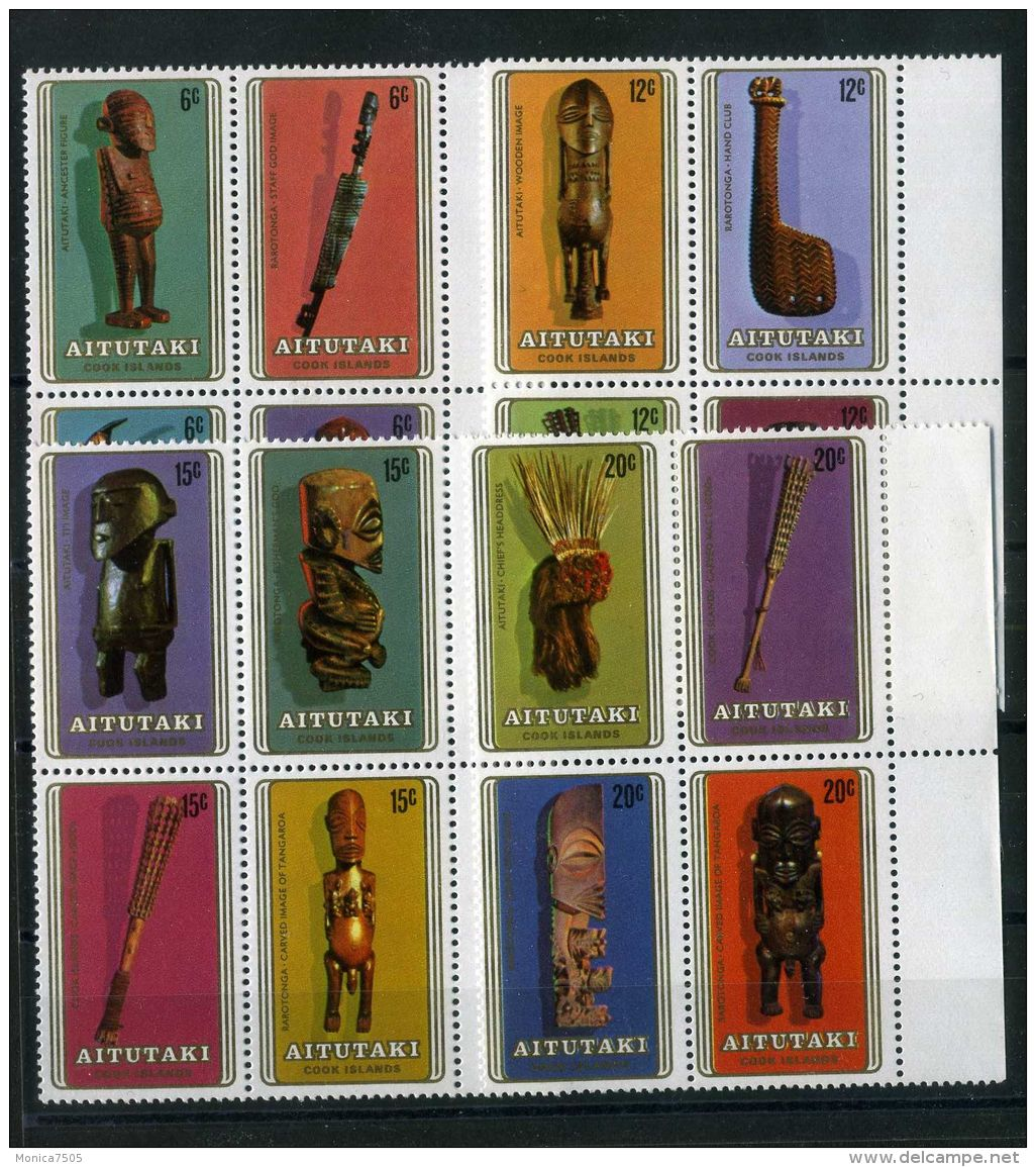 AITUTAKI ( POSTE ) : Y&T  N°  254/269   TIMBRES  NEUFS  SANS  TRACE  DE  CHARNIERE , A  VOIR . - Aitutaki