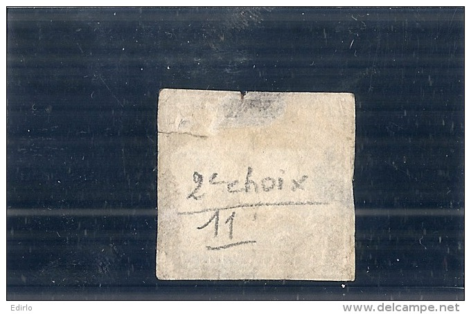 Allemagne - Wurttemberg - N° 11 TTB Obl  Côte 150,00€ 2eime Choix Déchirure - Wuerttemberg