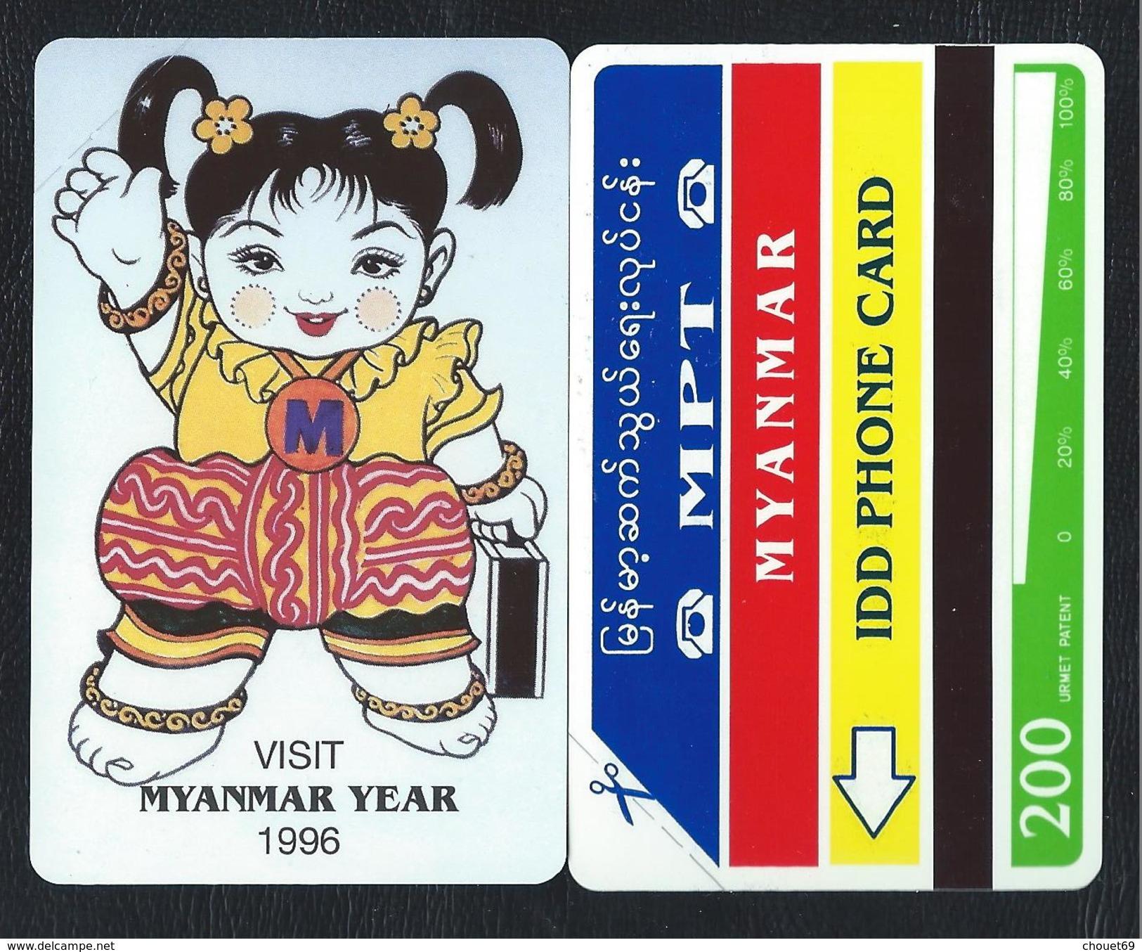 MYANMAR 6 BIRMANIE 200u MYANMAR YEAR 1996 Vert Green 15000ex MYA-06 MINT URMET Neuve - Myanmar
