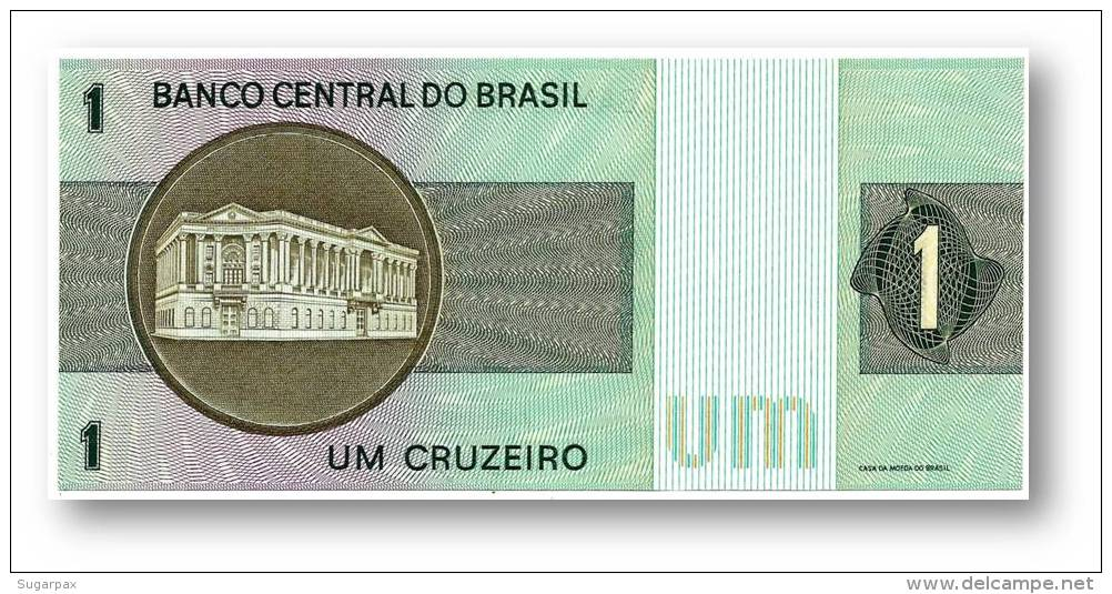 BRASIL - 5x Consecutive 1 CRUZEIRO - ND ( 1970 -72 ) - P 191 - UNC. - Serie 555 - Sign. 17 - Prefix A - LIBERTY - Brasilien
