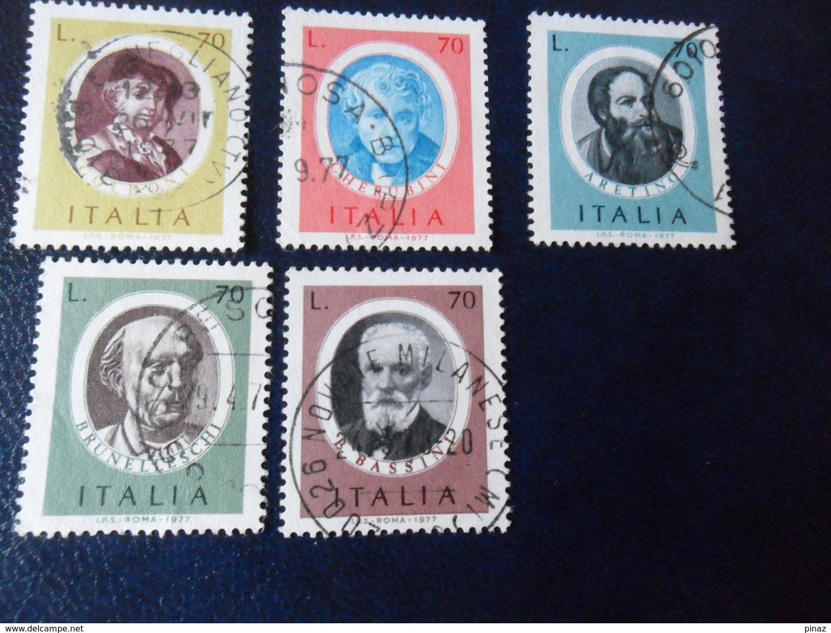 ITALIA  1977   UOMINI ILLUSTRI   CPL   L. 70 USATO - 1971-80: Used