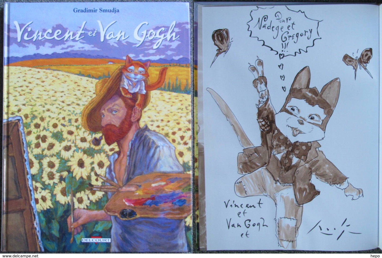 Smudja - Vincent Et Van Gogh - BD  EO + Dedicace - Livres, BD, Revues