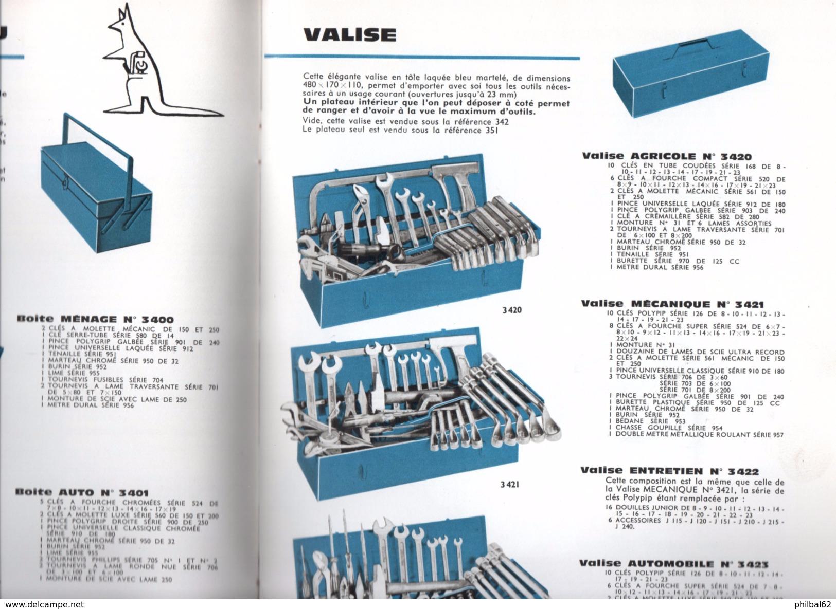 Catalogue De 48 Pages. Année 1964. Outils De Serrage, Clés Diverses, Douilles, Pinces, Tournevis. Demurger à Roanne. - Catalogues
