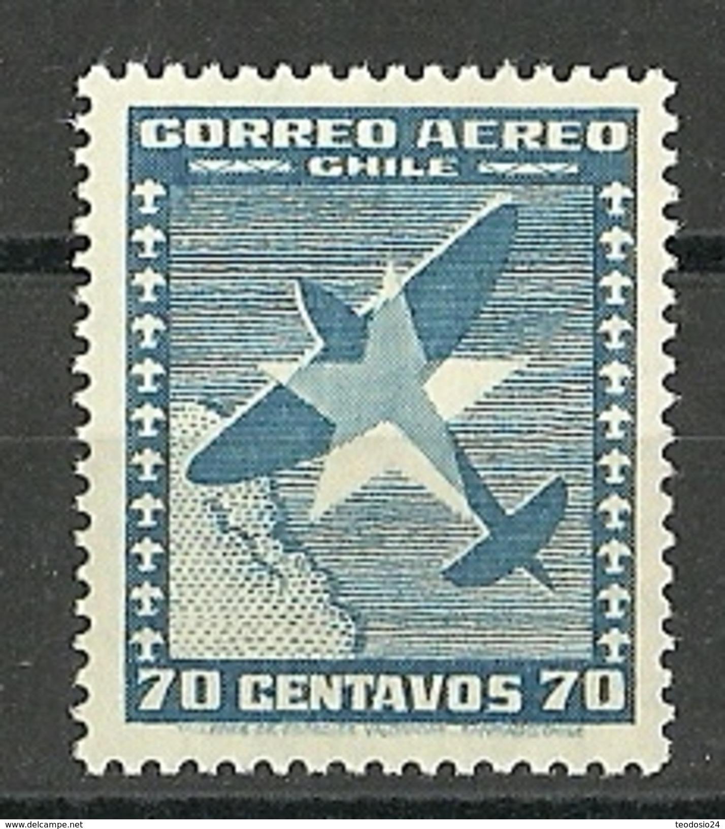 CHILE CORREO AEREO AÑOS 1935    ** MNH Mi:CL 206, Sn:CL C37, Yt:CL PA36  ** - Chili