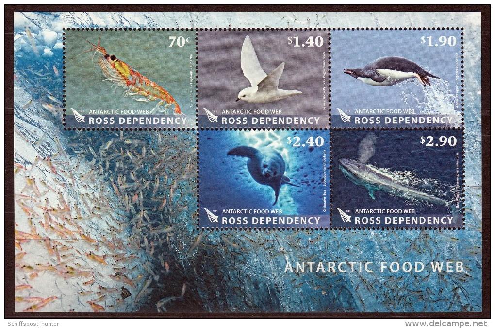 "ANTARCTIC, ROSS "" Food Web Of The Antarctic"" ,Block  Feinst Xx ,16.9-08 - Antarctic Wildlife"