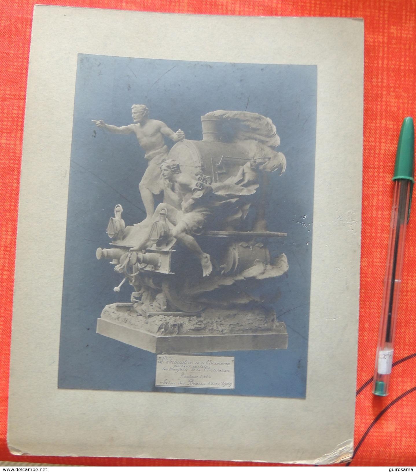 """Photo D'une Sculpture Du Salon Des Beaux Arts 1909 : """"Léon Virlet Fabrique De Bronze D'art 12 Rue Oberkampf Paris"""" - Esculturas"""