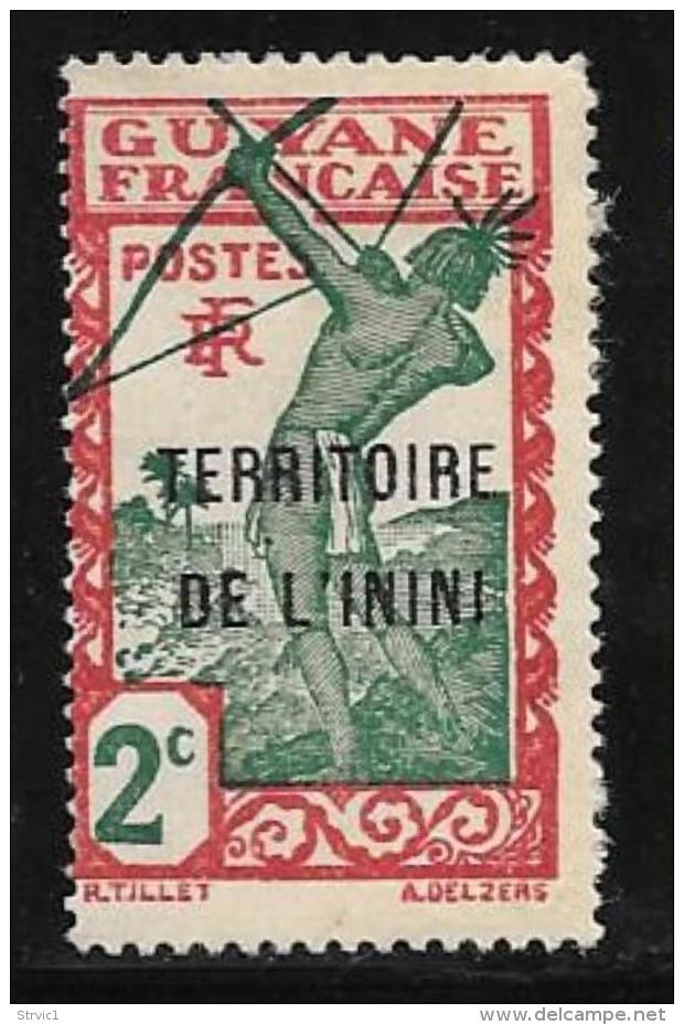Inini, Scott # 2 Mint Hinged  French Guiana Stamp Overprinted, 1932 - Unused Stamps