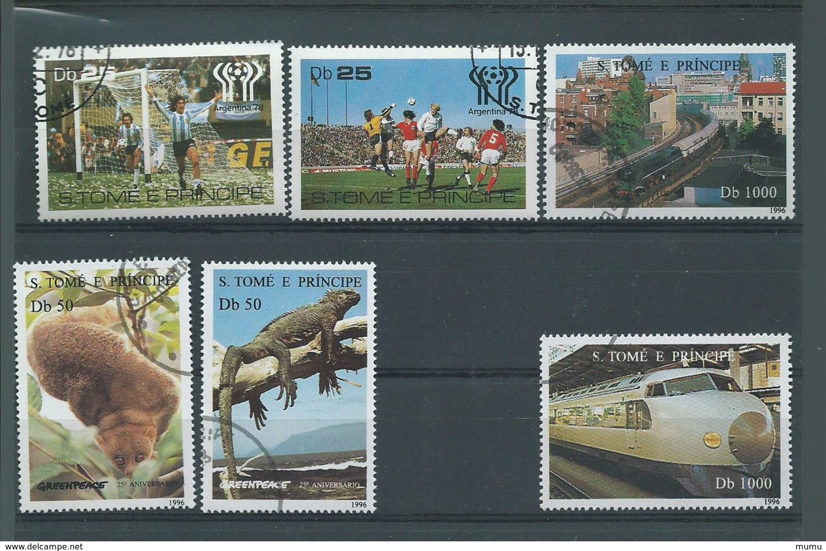 LOT ST TOME ET PRINCE OB - Timbres