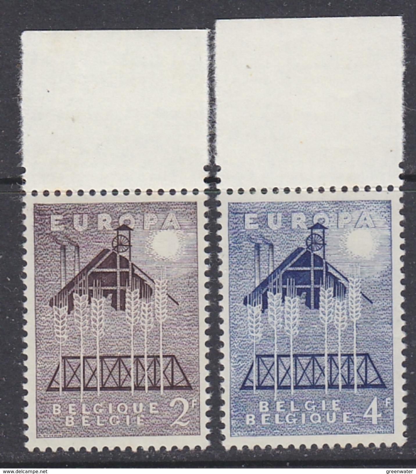 Europa Cept 1957 Belgium 2v (+margin) ** Mnh (34528) - 1957