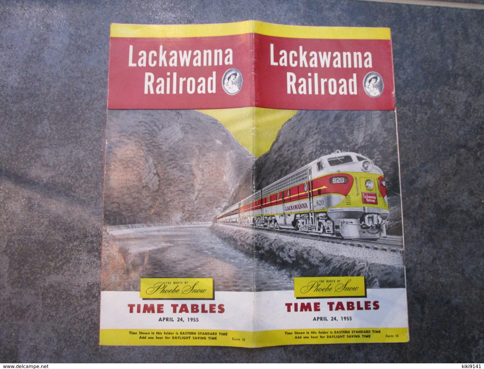 LACKAWANNA RAILROAD  -  TIME TABLES - Monde