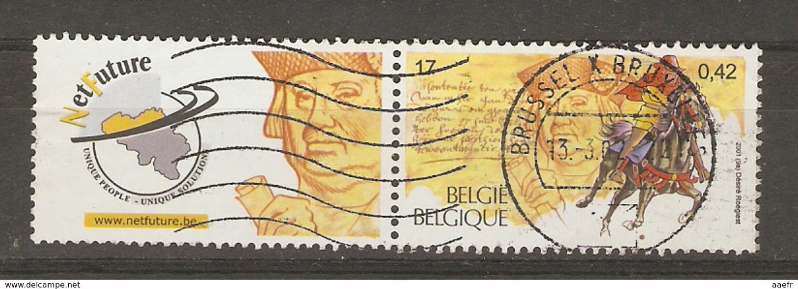 Belgique 2001 - Cob 2996 Avec Vignette Net Future - Belgium