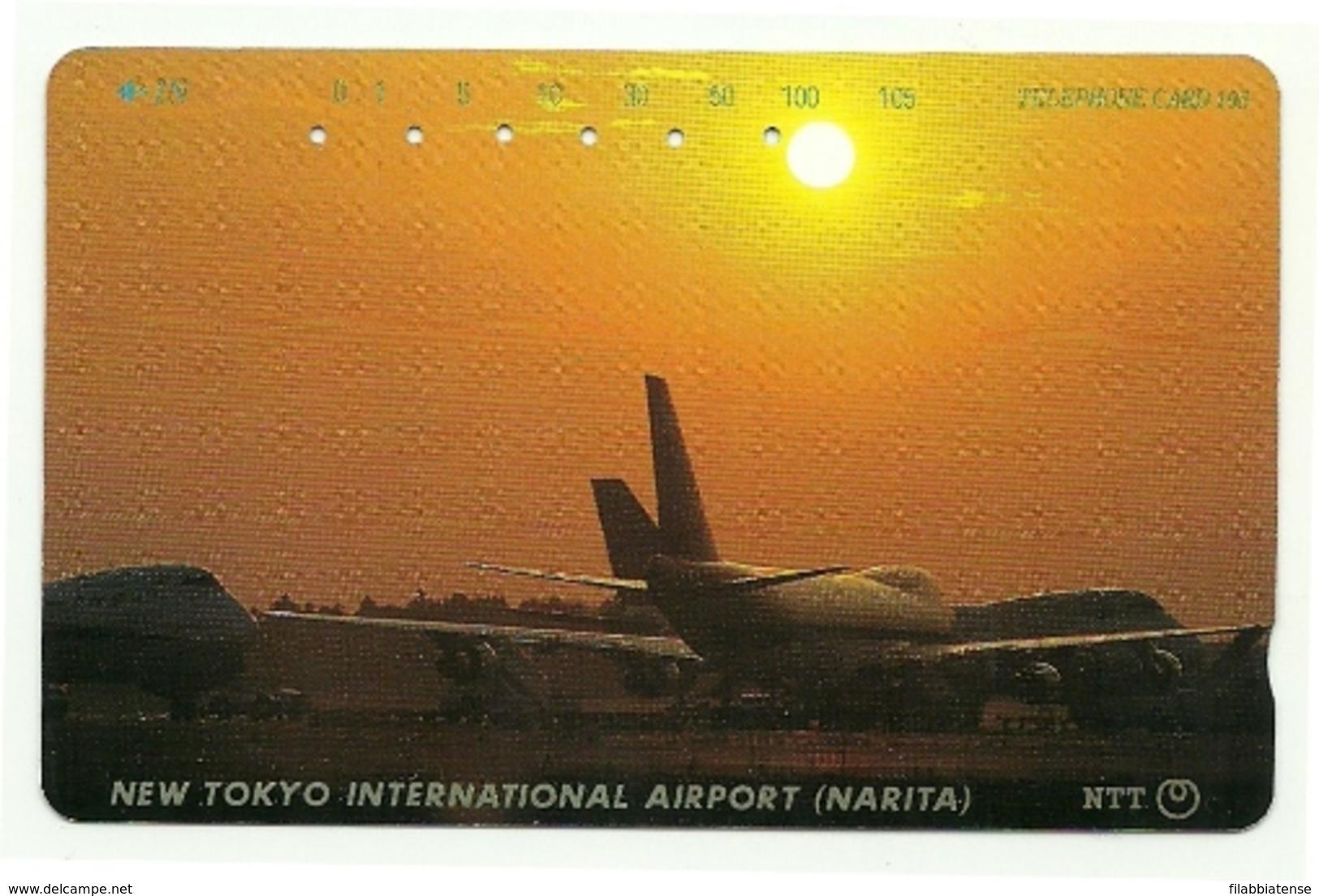 Giappone - Tessera Telefonica Da 105 Units T202 - NTT, - Avions