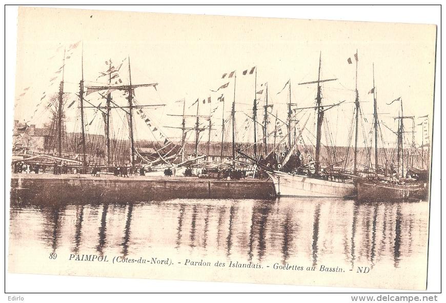 PAIMPOL  Pardon Des Islandais Goelettes Au Bassin Neuve TTBE - Paimpol