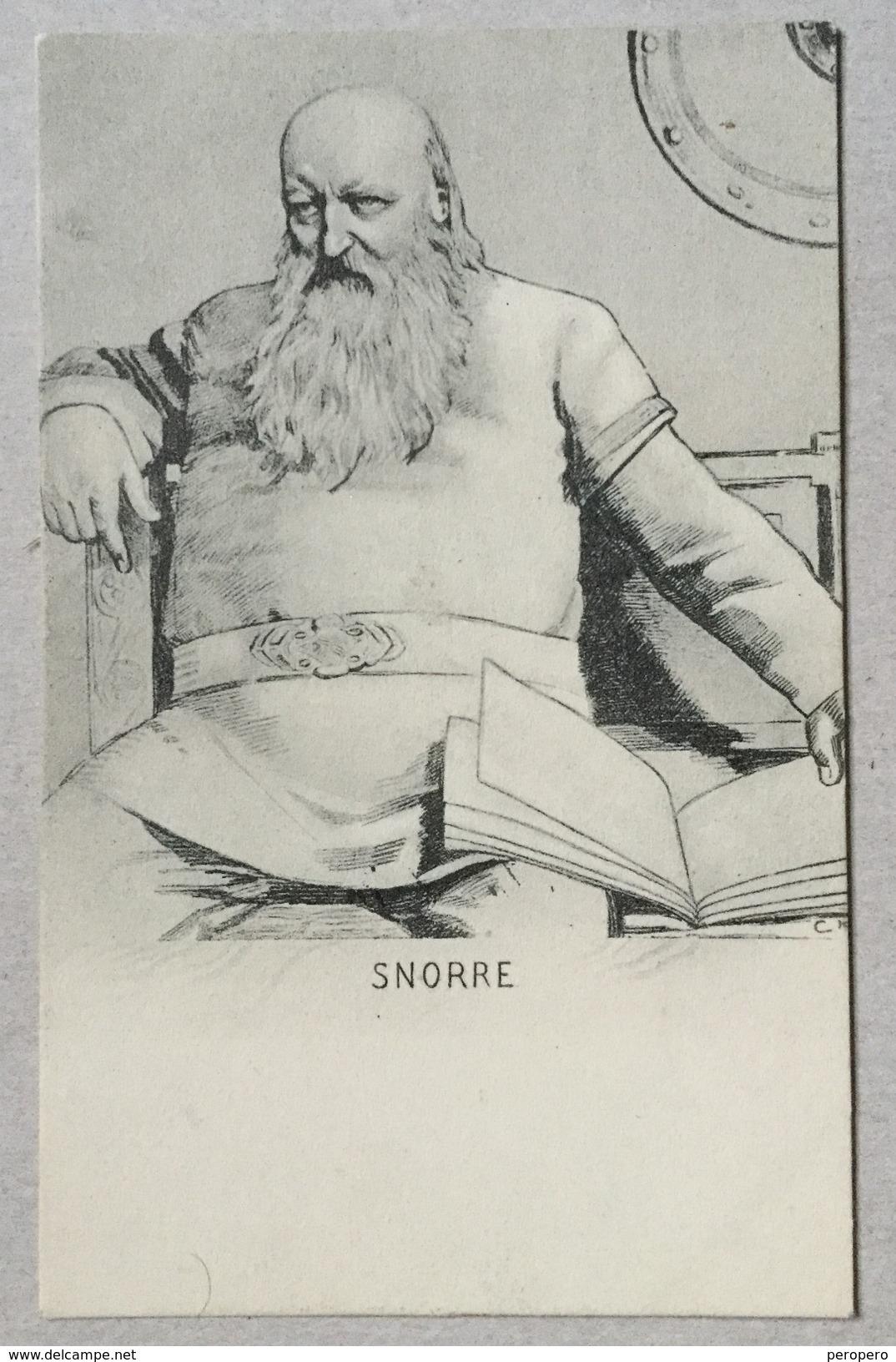 AK  ICELAND   SNORRE Snorri Sturluson  1912.      OLD POSTCARD - Island
