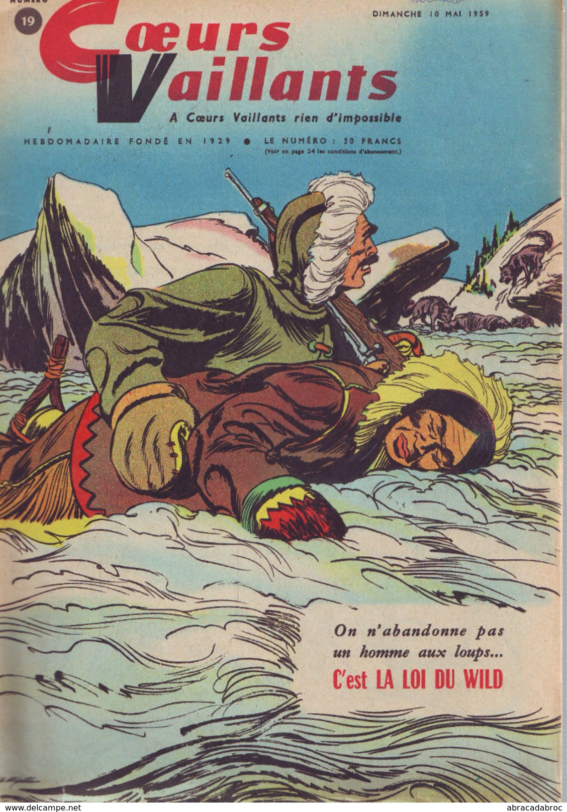 Coeurs Vaillants -10/05/1959 - Bon Etat Complet - Magazines Et Périodiques