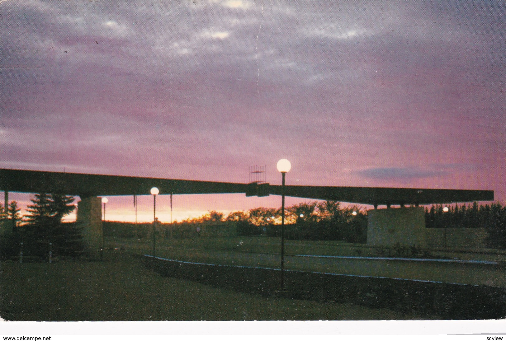 BOISSEVAIN, Manitoba, Canada, PU-1971; Entrance Gate To The Peace Gardens At Sunset - Manitoba