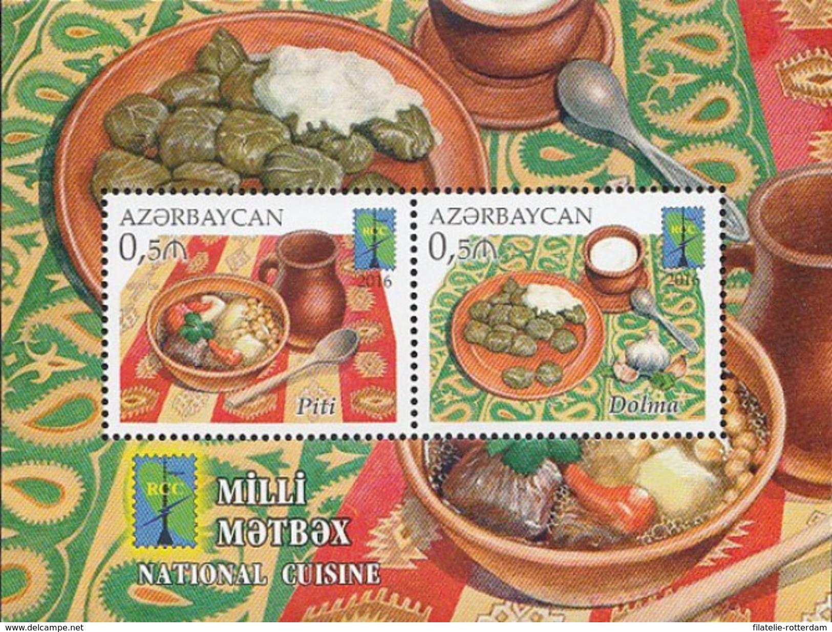 Azerbeidzjan / Azerbaijan - Postfris / MNH - Sheet Plaatselijke Keuken 2016 - Azerbeidzjan