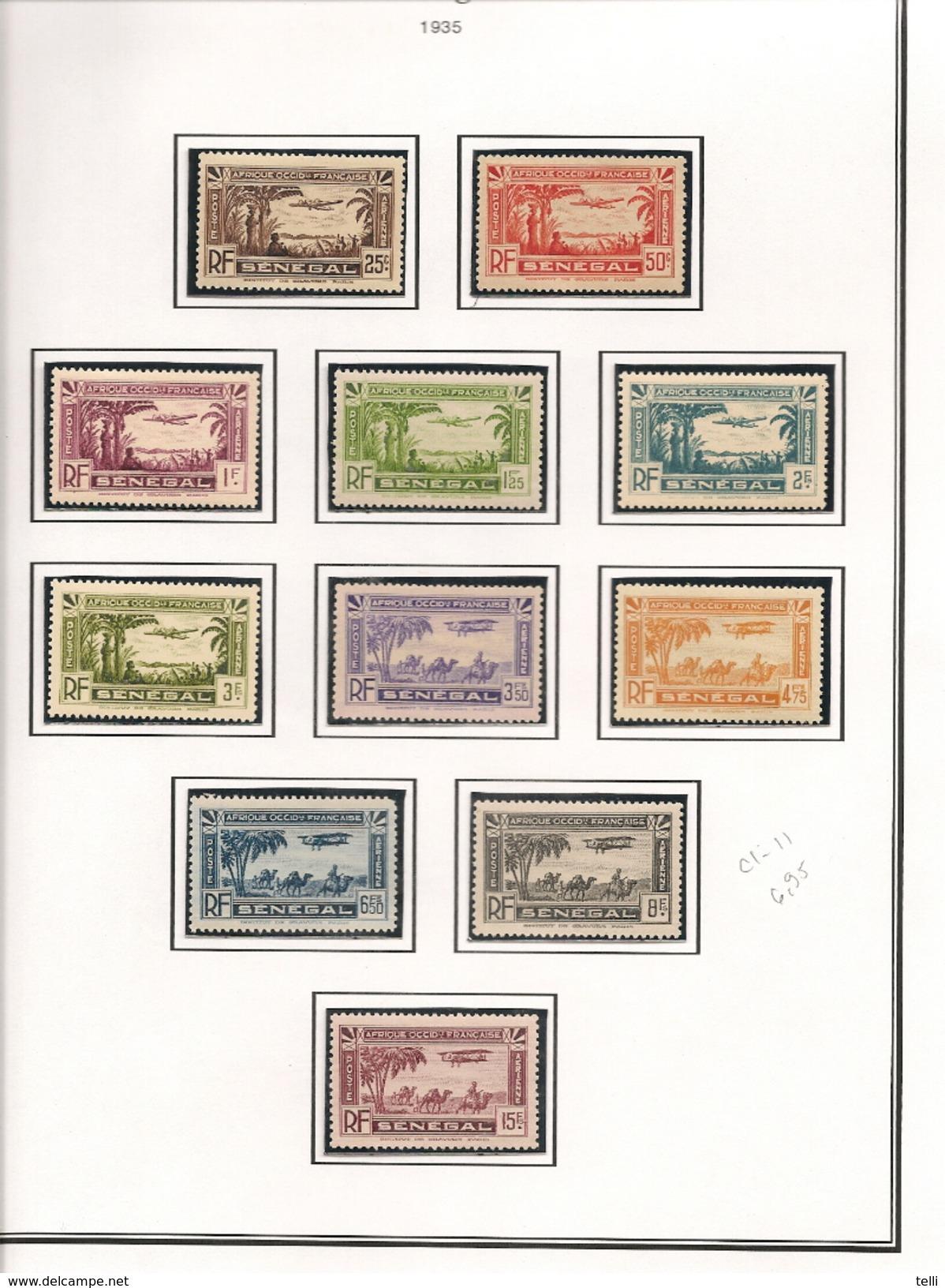 SÉNÉGAL Scott C1-C11 Yvert PA1-PA11 (11) * Cote 7 $ - Poste Aérienne