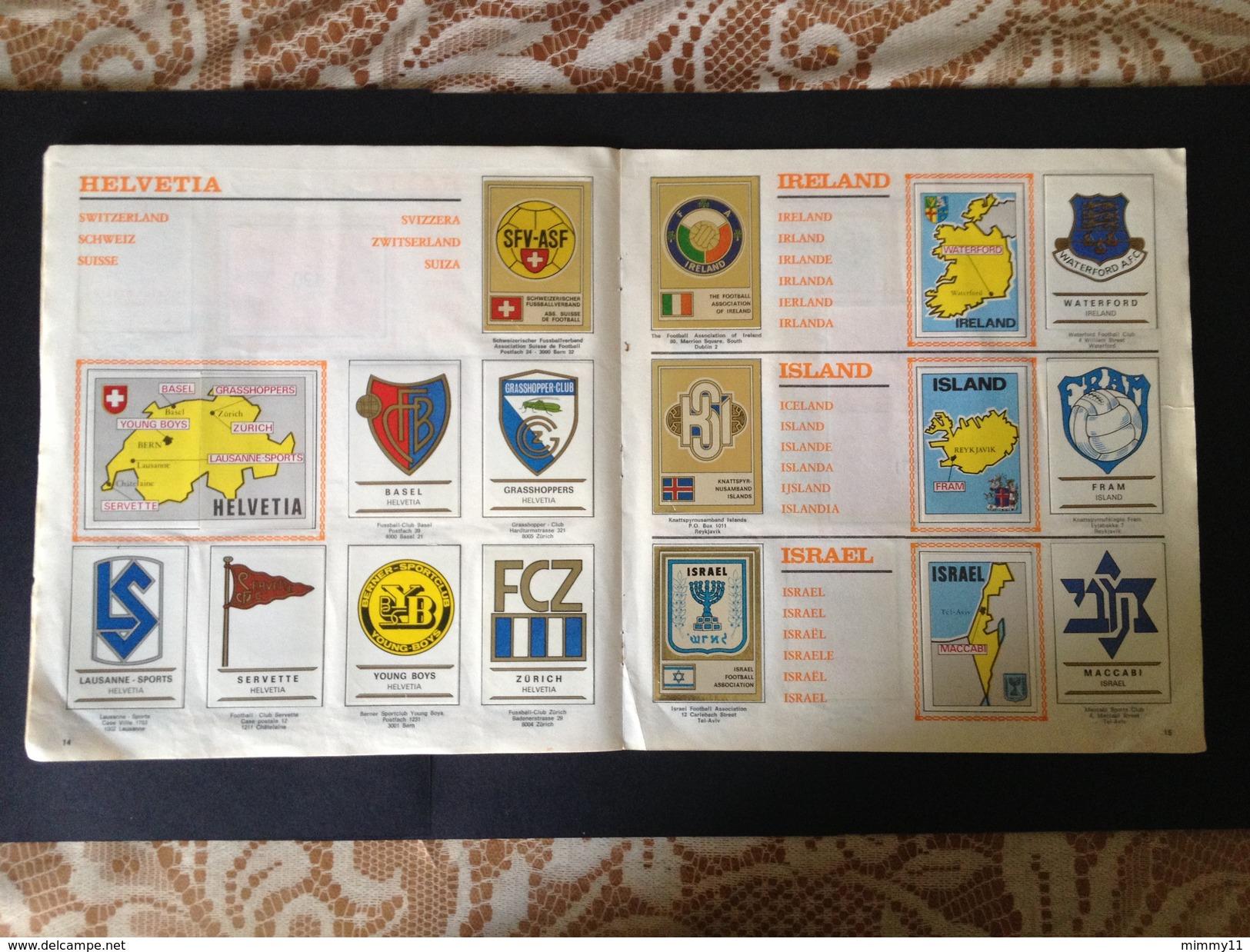 ALBUM FOOTBALL CLUBS PANINI 1975 - COMPLETO - OTTIMO - BEN CONSERVATO  RARISSIMO - Panini