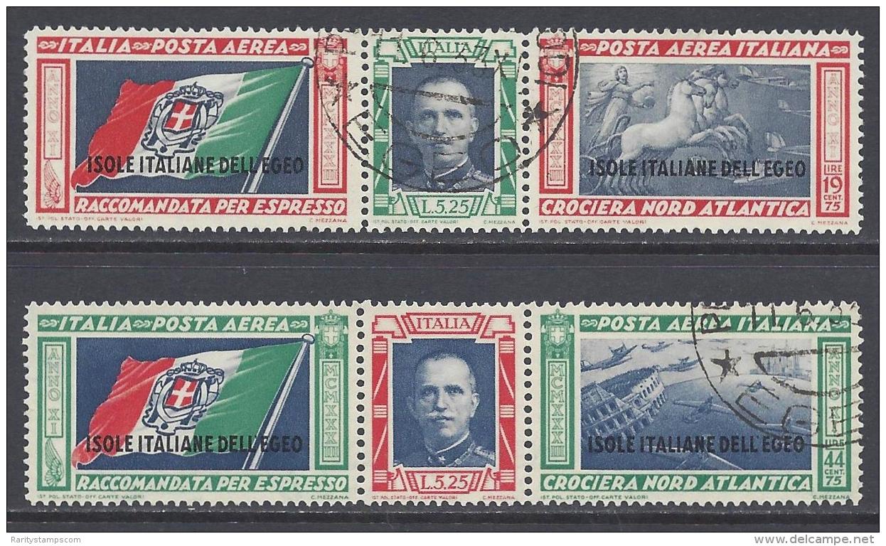ITALY 1933 ISOLE EGEO CROCIERA BALBO Nº 28/29 - Egeo
