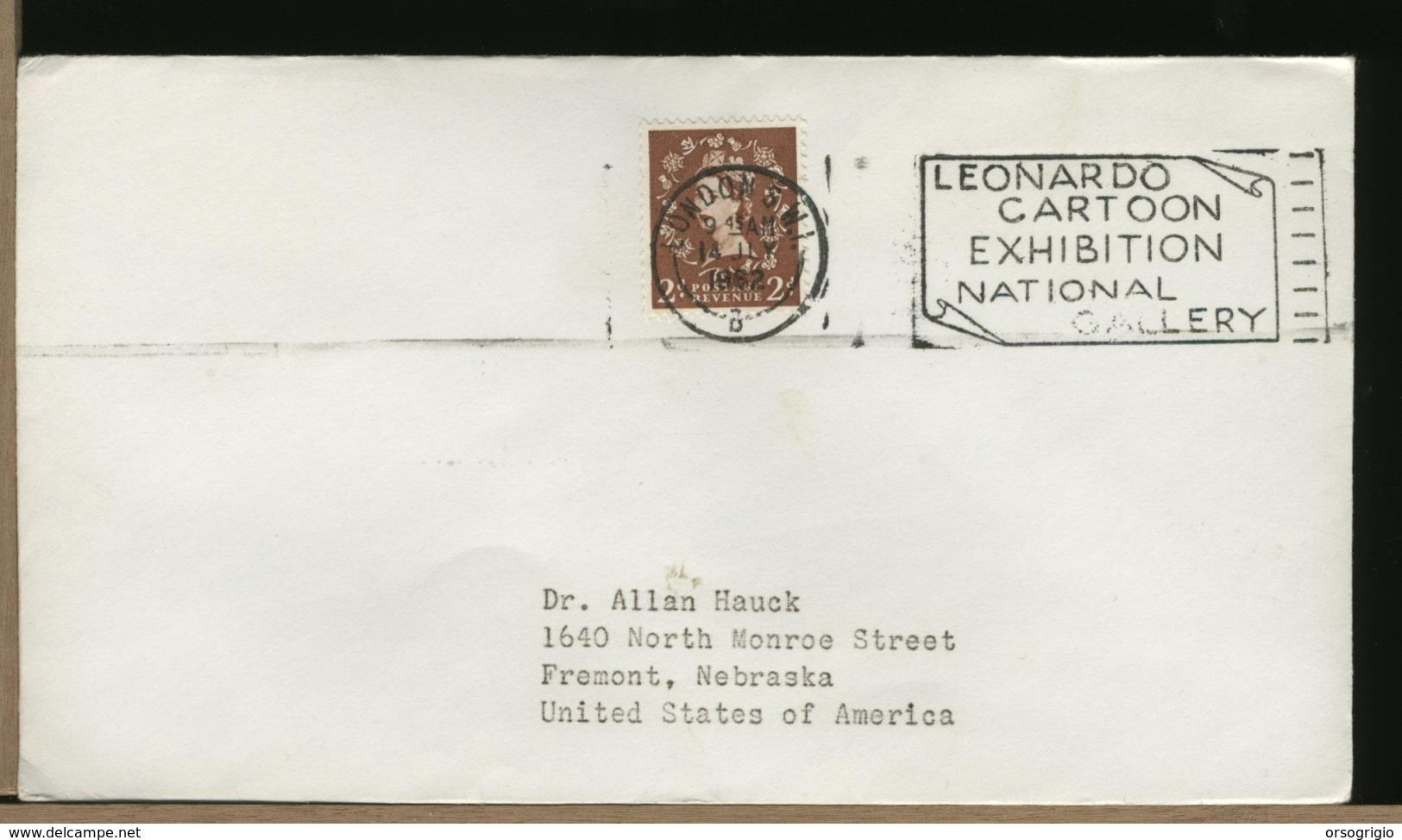 GREAT BRITAIN -   LEONARDO DA VINCI - LEONARDO CARTOON EXHIBITION -  LONDON  S.W.I - Celebrità