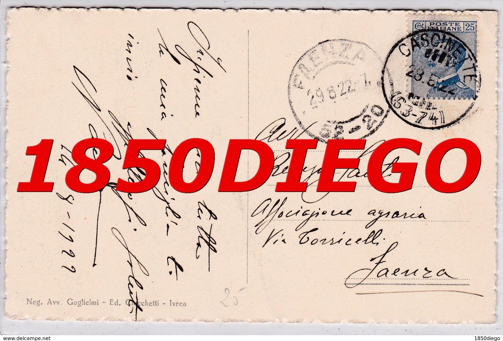IVREA - PIENA DELLA DORA F/PICCOLO VIAGGIATA 1922 - Italy