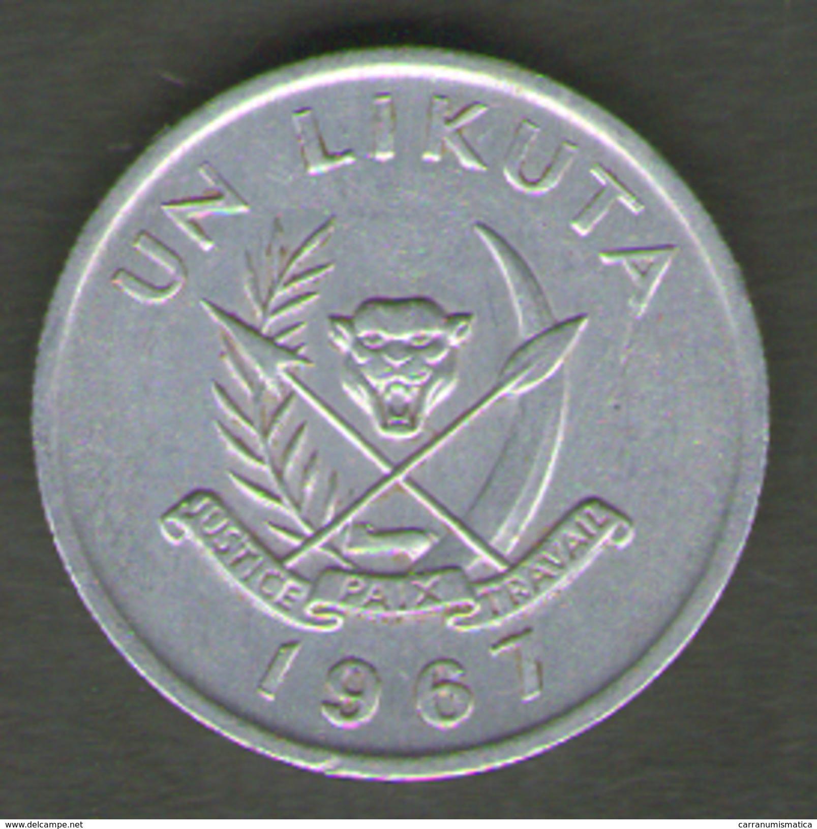 CONGO 1 LIKUTA 1967 - Congo (Republic 1960)