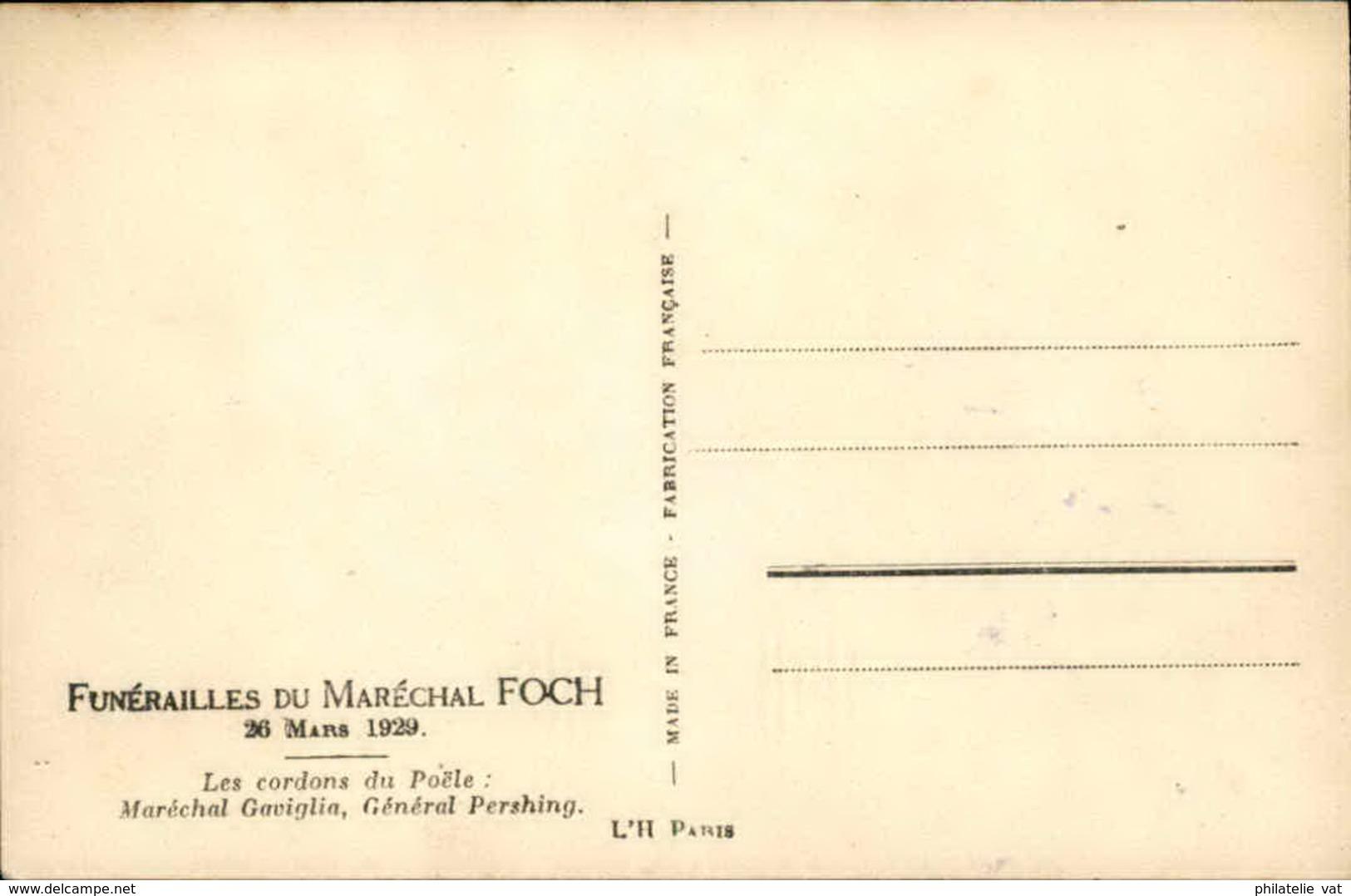 FRANCE - Carte Photo Des Funérailles Du Maréchal FOCH - 26 Mars 1929 - P20959 - Personnages