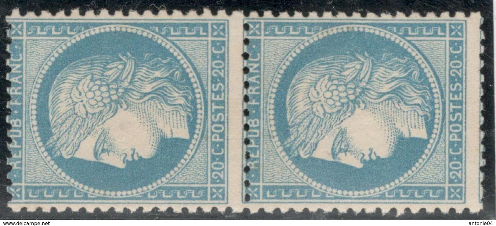 France Yvert 37 (*) Paire Sans Gomme TB Sans Défaut Cote EUR 240  (numéro Du Lot 144F) - 1870 Siege Of Paris