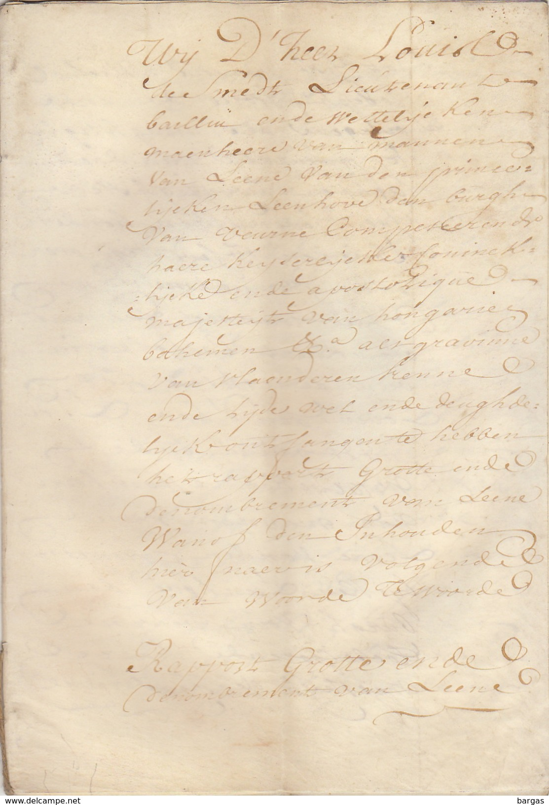 Parchemin En 8 Pages Concernant Veurne Furnes - Manuscripts