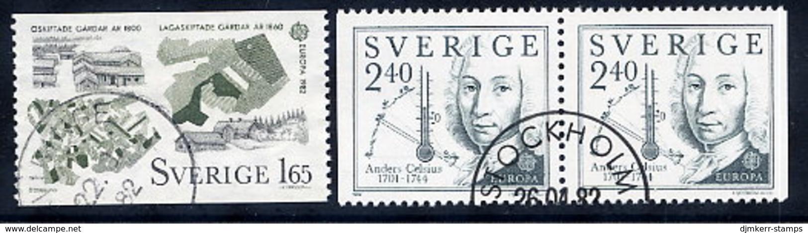 SWEDEN 1982 Europa: Historical Events Used.  Michel 1187-88 - Sweden