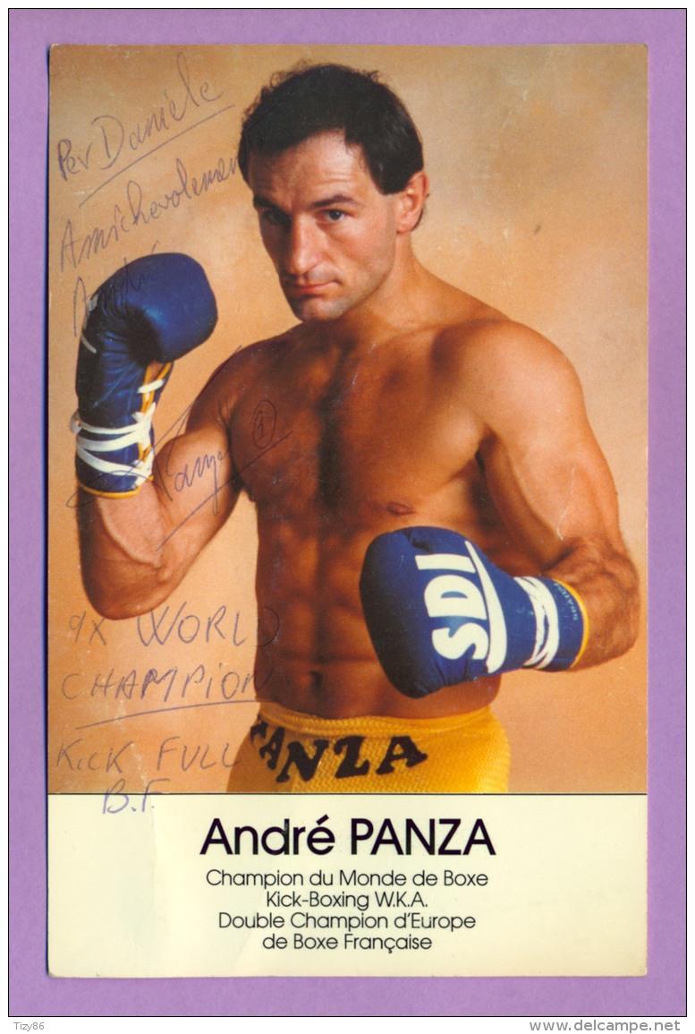 Fotografia Di Andrè Panza Con Dedica E Autografo Originali (Pugilato/Boxe) - Repro's