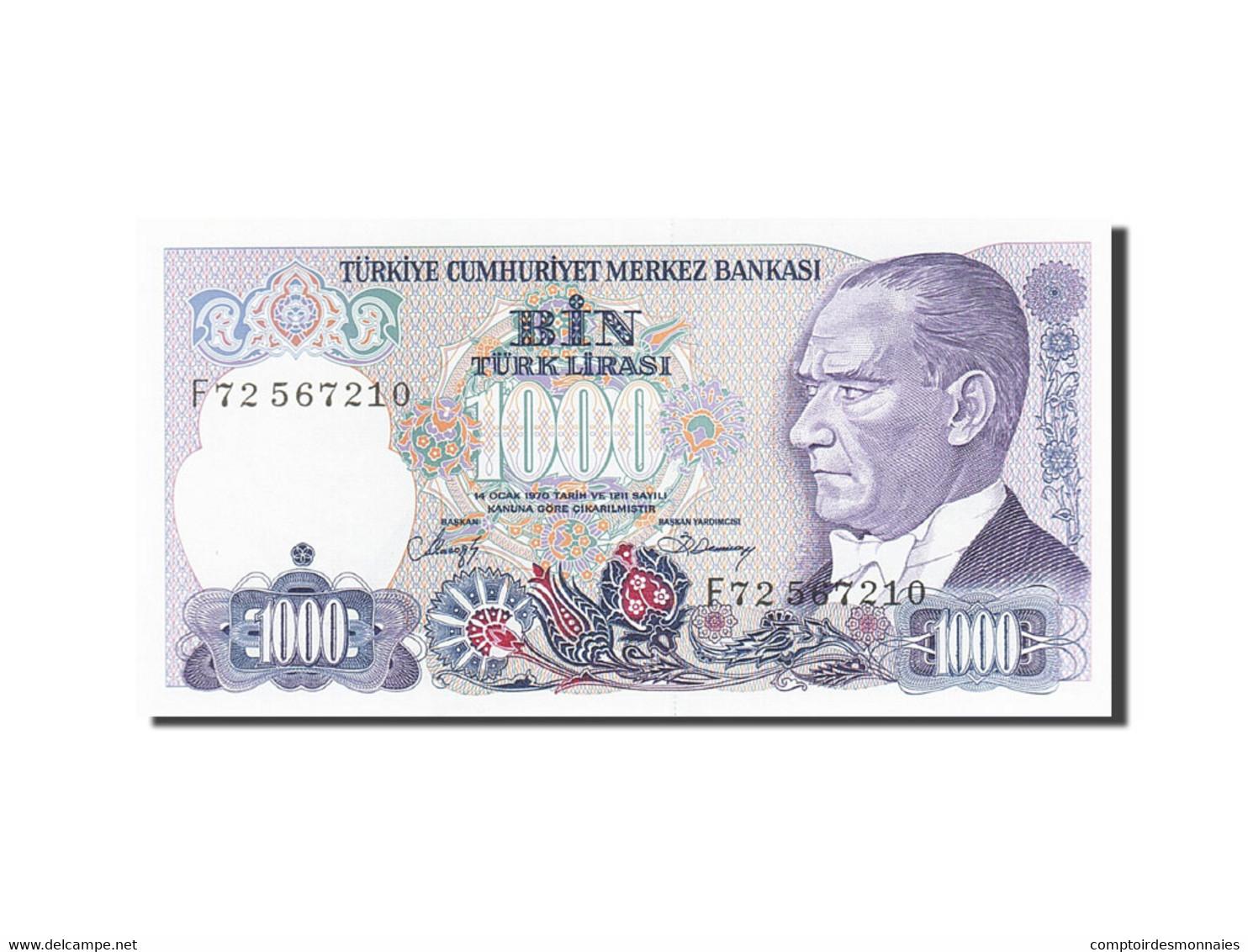 Turquie, 1000 Lira, 1984-1997, KM:196, 1986, NEUF - Turquie