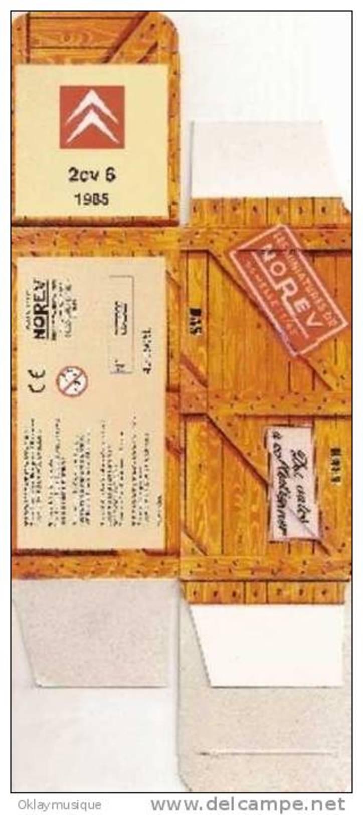 Boite Neuf Pour Miniature Norev Numéroté ( Citroen 2cv 1985) - Non Classés