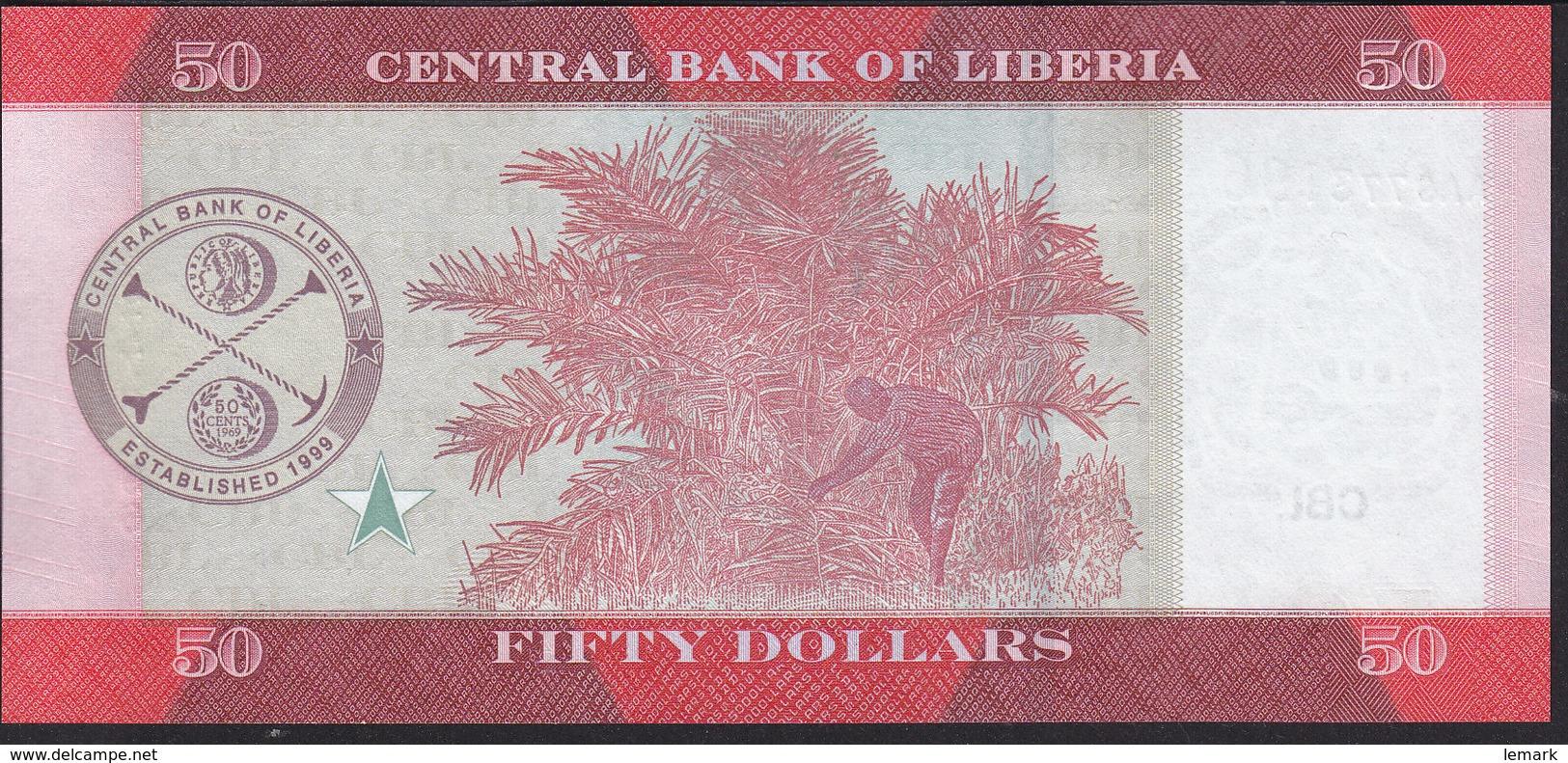 Liberia 50 Dollar 2016 Pnew UNC - Liberia