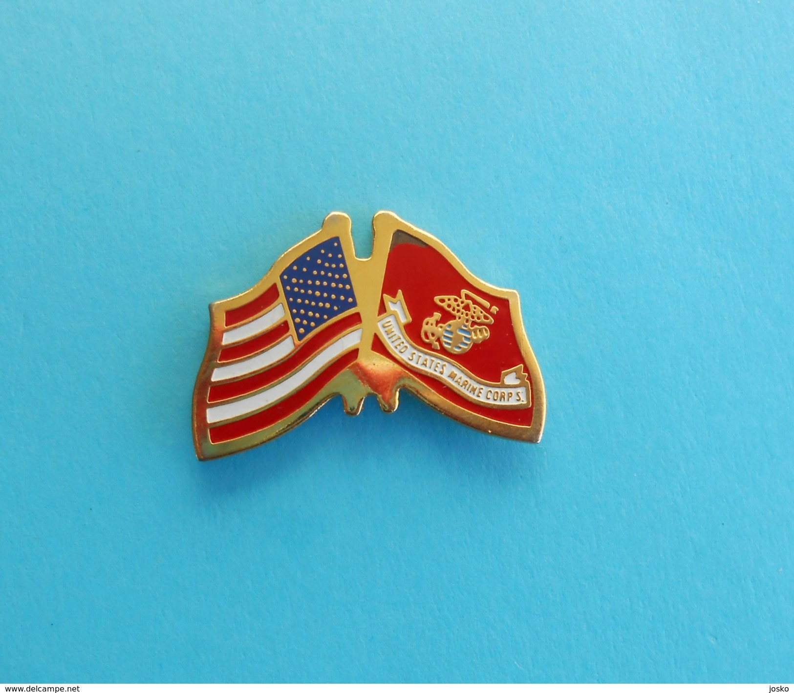 UNITED STATES - MARINE CORPS * Usa Flag US Navy Kriegsmarine Marines Marinesoldaten Infantería De Marina Pin Badge - Marine