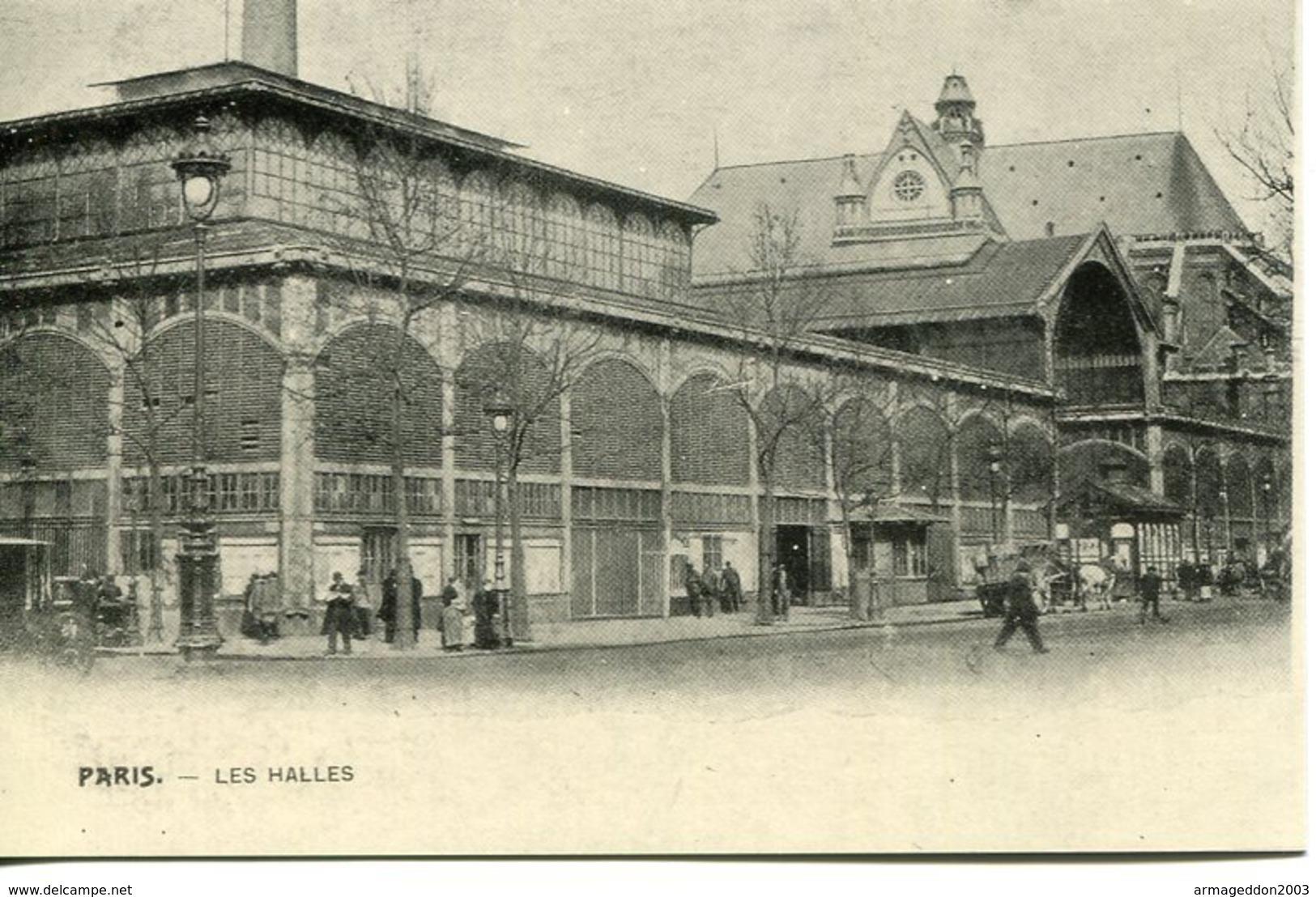 F01  / REPRO CPA PARIS LES HALLES - Halles