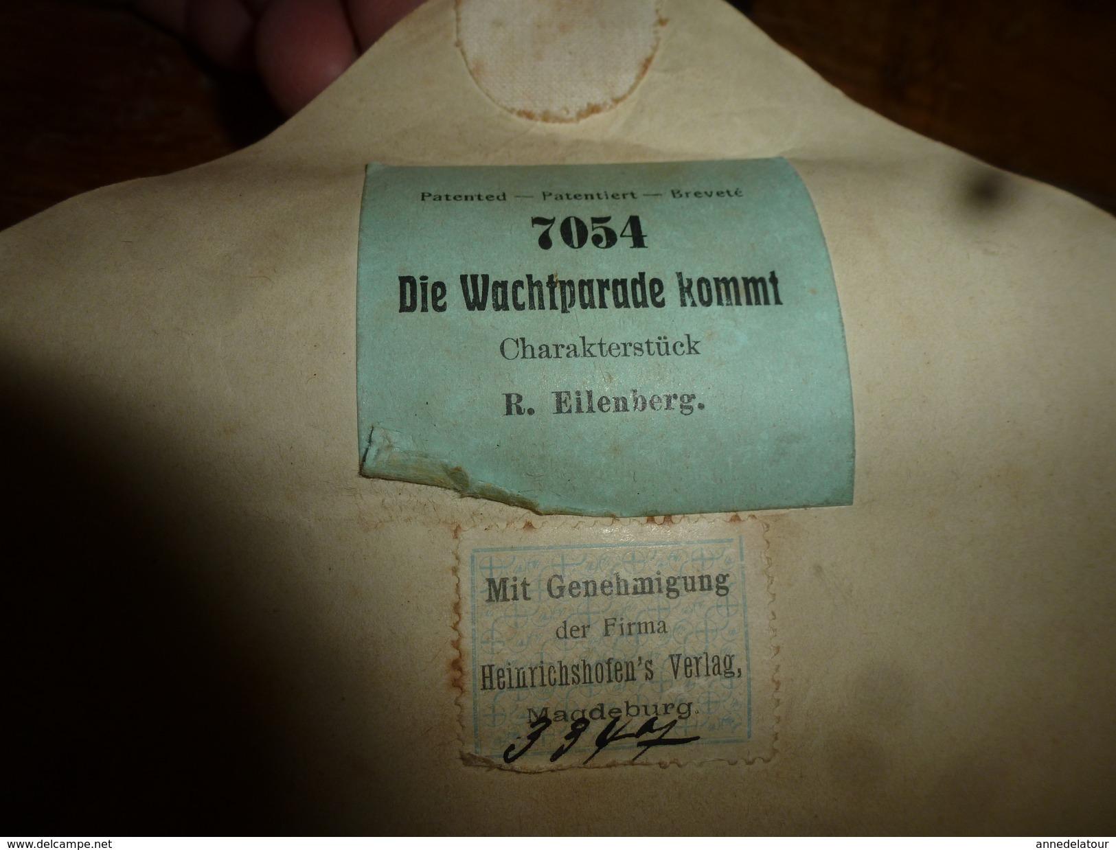 Rouleau Ancien Pour Piano Die Wachtparade Kommf, Charakterstück R. Ellenberg Mit Genehmigung Der Firma .Heinrichshofen's - Music & Instruments