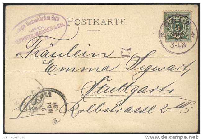 Beautiful Postcard Used On 9/MAY/1898, Excellent Quality. - Germany