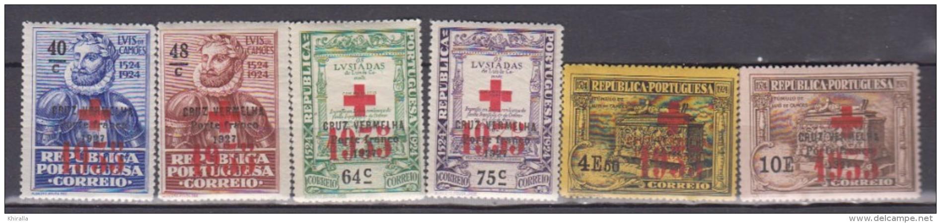 PORTUGAL    1934     Franchise     N.   79 / 84   COTE    18 . 00  EUROS          ( M 195 ) - Neufs