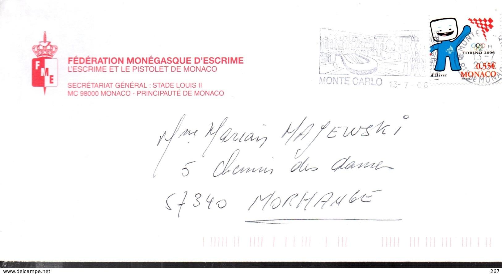 MONACO   Monte Carlo  Escrime Musique Lyre - Music