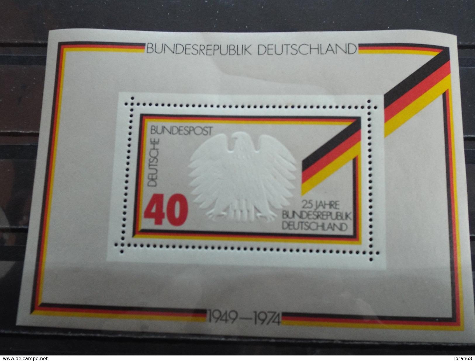 BF Neuf Allemagne RFA 1974 : 25 Ans De La République Fédérale Allemande - [7] République Fédérale