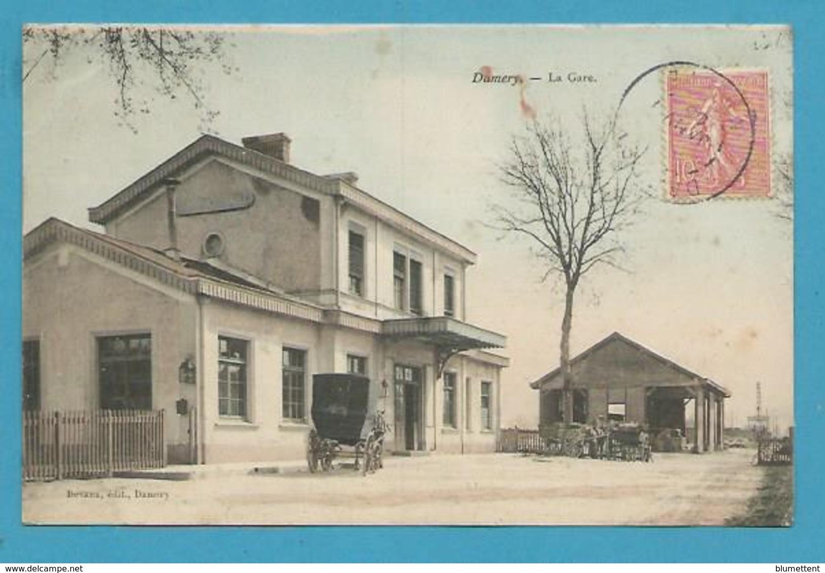 CPA Chemin De Fer La Gare DAMERY 51 - Altri Comuni
