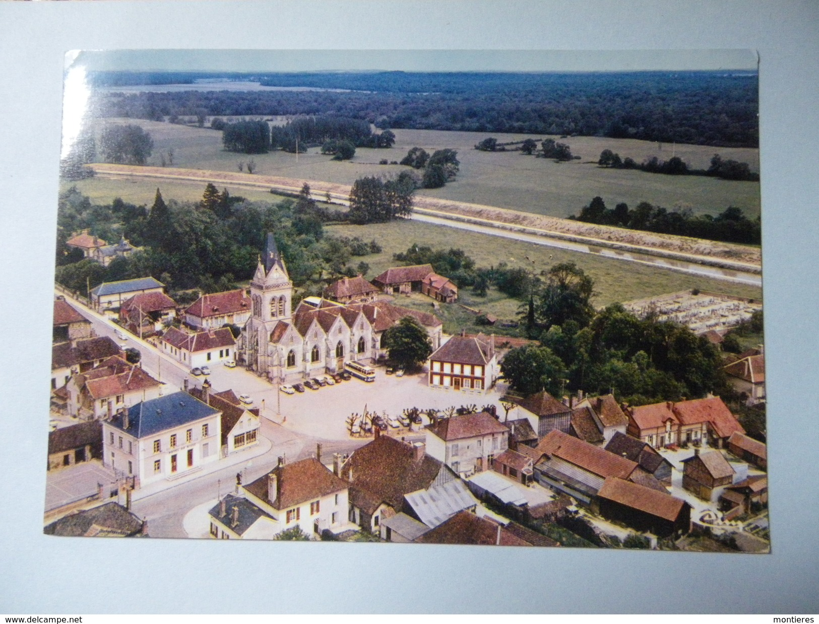 CPSM 10 AUBE - LUSIGNY SUR BARSE VUE AÉRIENNE - Troyes