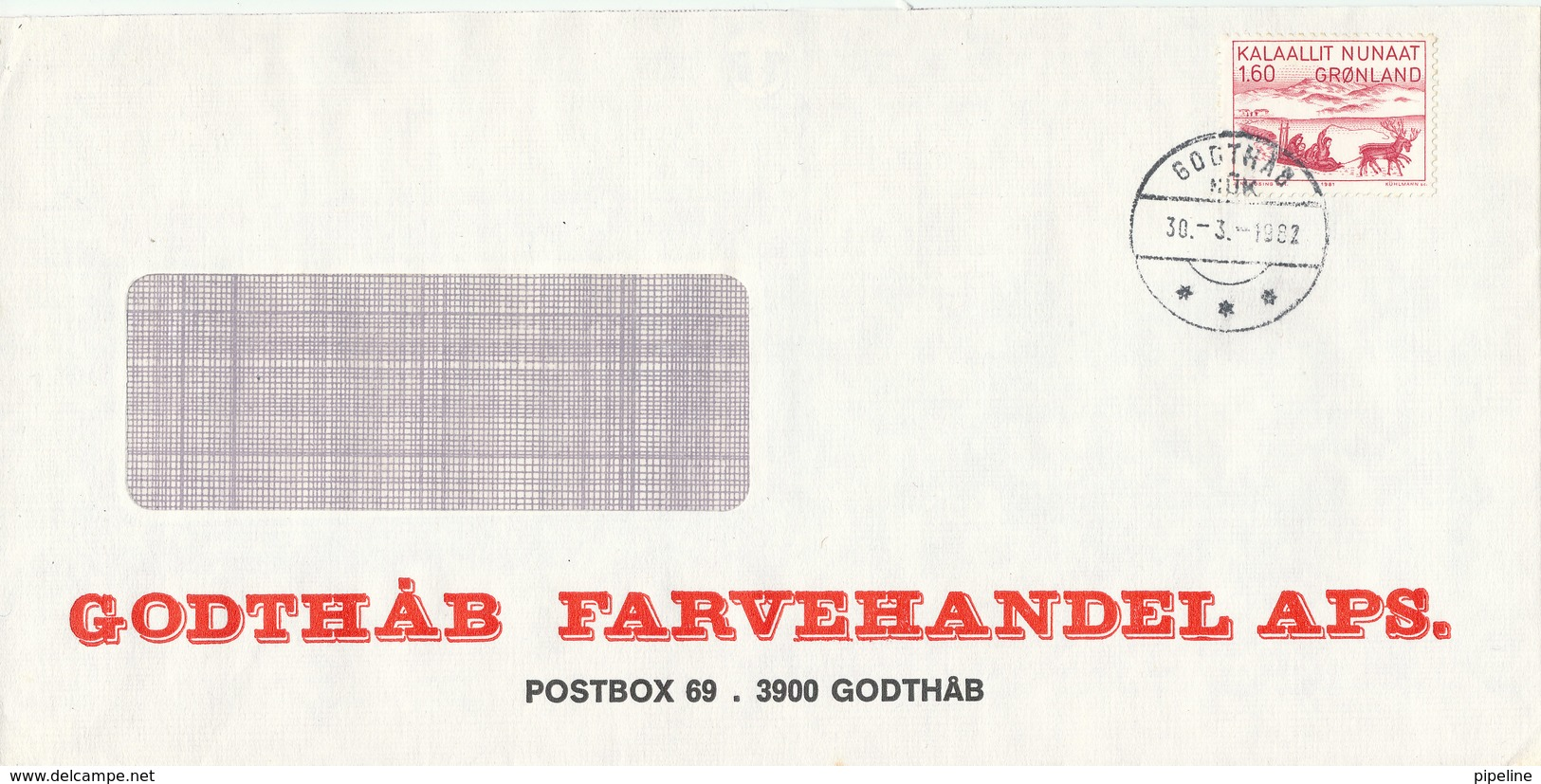 Greenland Cover Godthab 30-3-1982 - Sin Clasificación